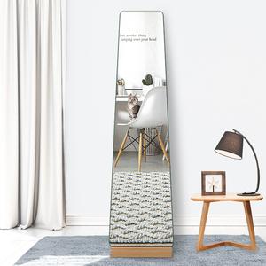 创意穿衣镜北欧简约家用试衣镜壁挂贴墙落地全身镜客厅卧室穿衣镜