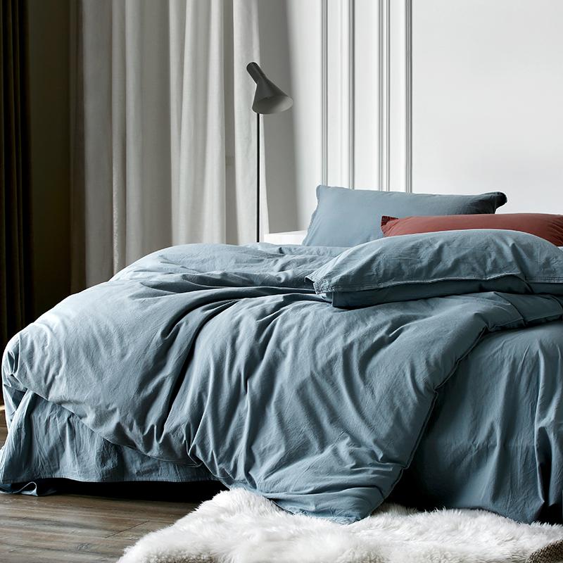 巷子戏法 | 水洗棉床上四件套全棉北欧风棉麻床品纯棉床单4件套