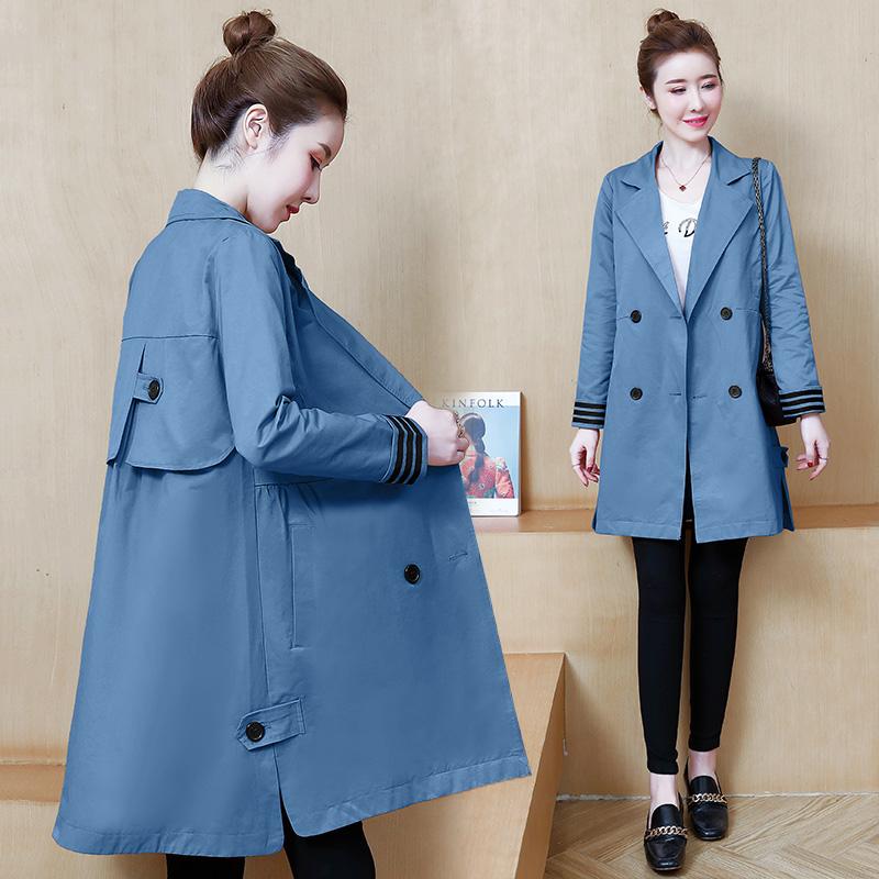 2020新款韓版秋季名媛小香風純色外套時尚都市潮流中長款風衣女裝