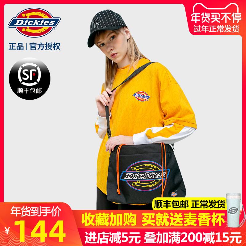 Dickies潮牌单肩包学生校园嘻哈彩色字母斜挎包时尚束口包包W011