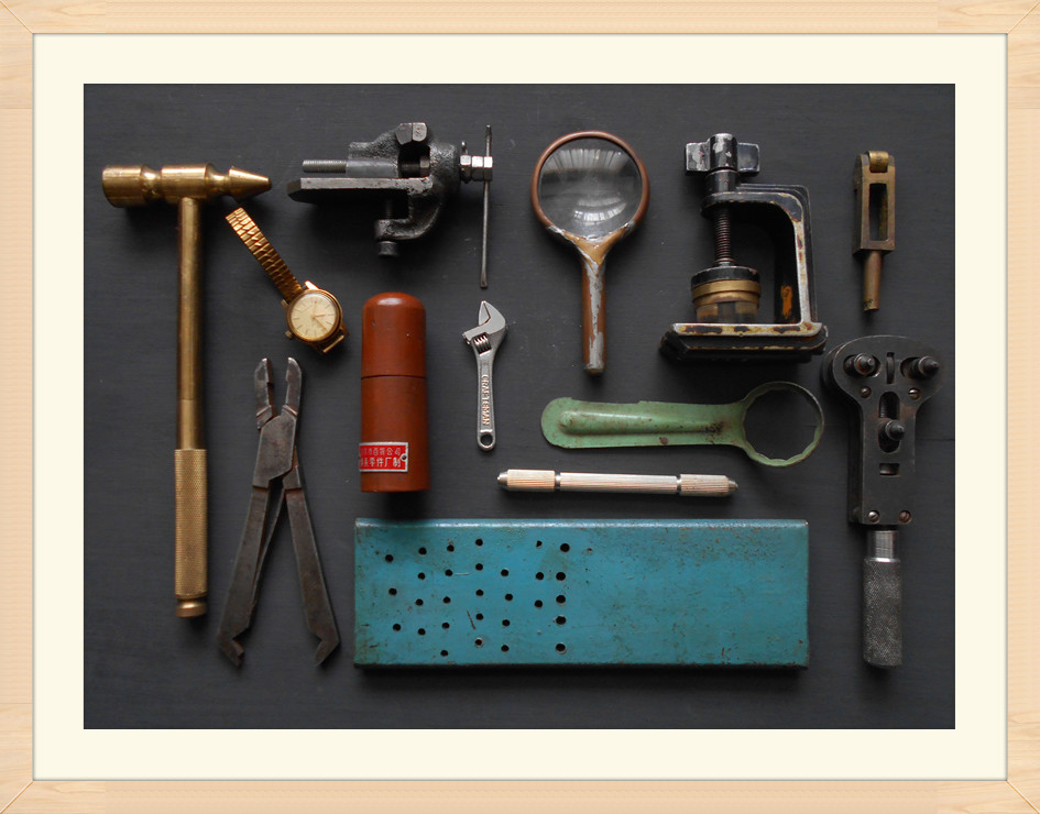 Antique watch repair tools antique collection miscellaneous clocks and watches repair copper tools window display furnishings