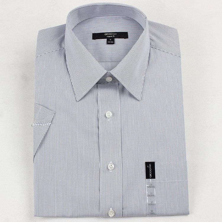 G2000短袖男衬衫商务正装条纹青年休闲修身款衬衣免烫regular fit