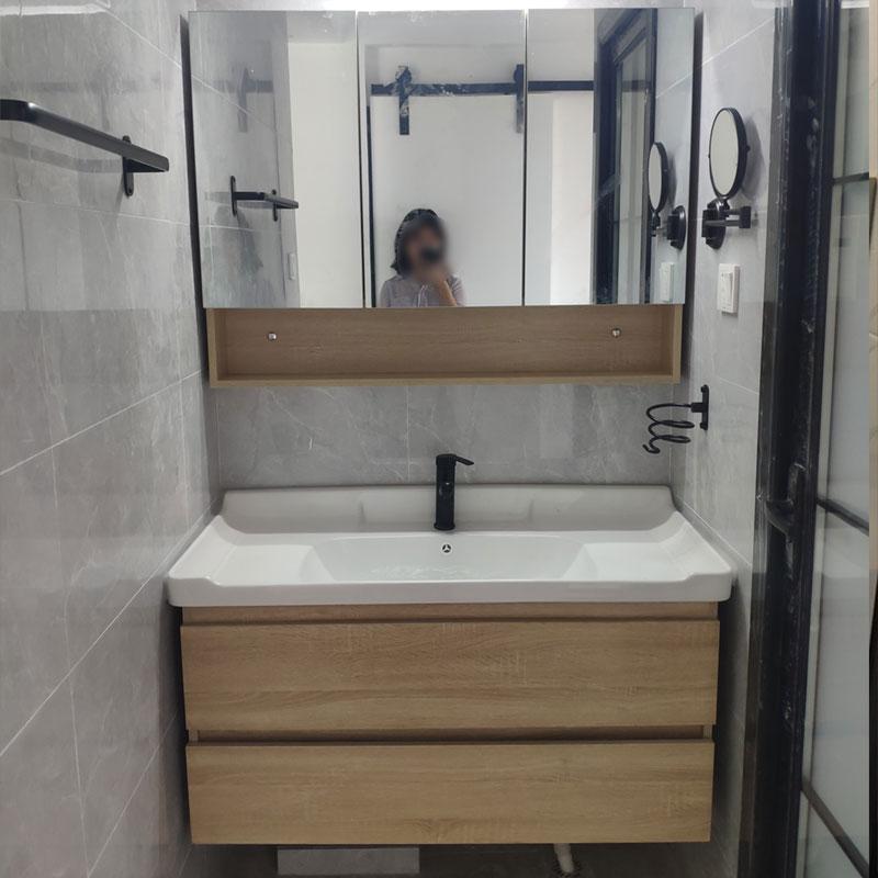 现代简约北欧实木卫浴镜柜洗手盆柜限1000张券