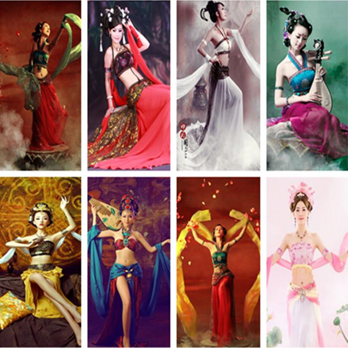 敦煌服装飞天舞蹈服古典舞演出服性感古装汉服女飞天仙女古装服装