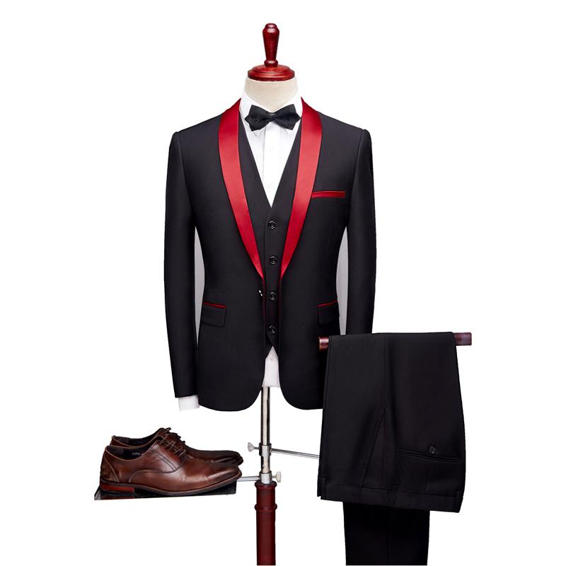 Suit mens suit bridegroom wedding tusco evening dress host custom tuxedo autumn three piece suit