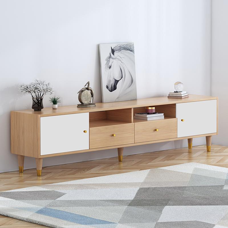 WTL北欧电视柜客厅分区储物地柜1.5米1.8米2米现代简约小户型家具