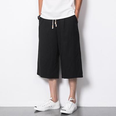 沙滩裤 七分裤男宽松直筒 麻料 电商A057-KZ002-P35(最低48)