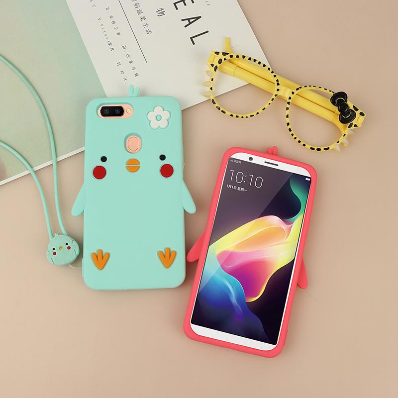 日韩小鸡oppor11手机壳硅胶软 r11plus r11s个性全包保护套可爱女