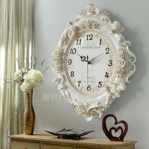 钟表欧式挂钟个性艺术客厅挂表石英钟卧室静音挂墙时尚家用钟饰