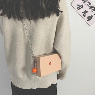 盒子小方包包女小包2021新款潮韩版百搭链条斜挎包少女单肩手机包