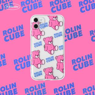 Rc適用蘋果11promaxr手機殼xs可愛小熊iphone12少女心7/8plus透明