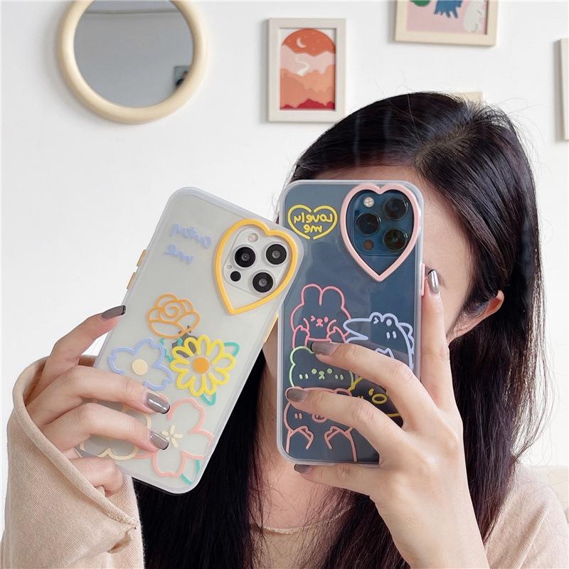 中國代購|中國批發-ibuy99|手机套|卡通可爱适用iphone12promax苹果11手机壳xr爱心x镜头xs女8plus套