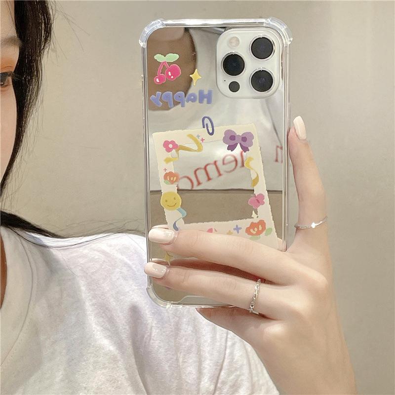 中國代購|中國批發-ibuy99|手机套|潮牌ins风适用iPhone11/12promax手机壳保护套苹果xs/xr镜子8plus