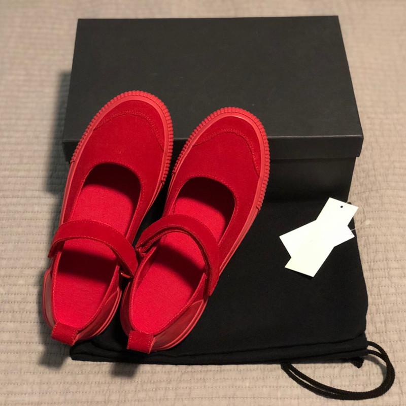2021春款玛丽珍鞋女韩版圆头魔术贴凉鞋平底纯色单鞋休闲帆布女鞋