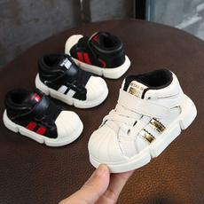 男童真皮板鞋2018冬款男宝宝运动鞋婴儿软底学步鞋0-2岁15-19码
