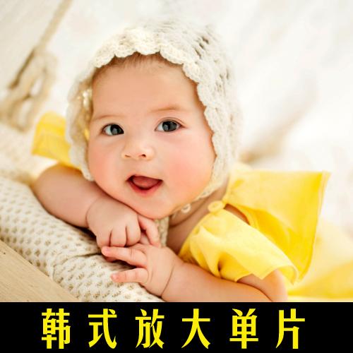2020年儿童影楼室内韩式宝宝百天高清放大样片实景摄影高端样照