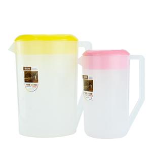 奶茶店塑料冷水壺耐高温耐熱大容量涼水壺茶水壺果汁壺帶蓋量杯