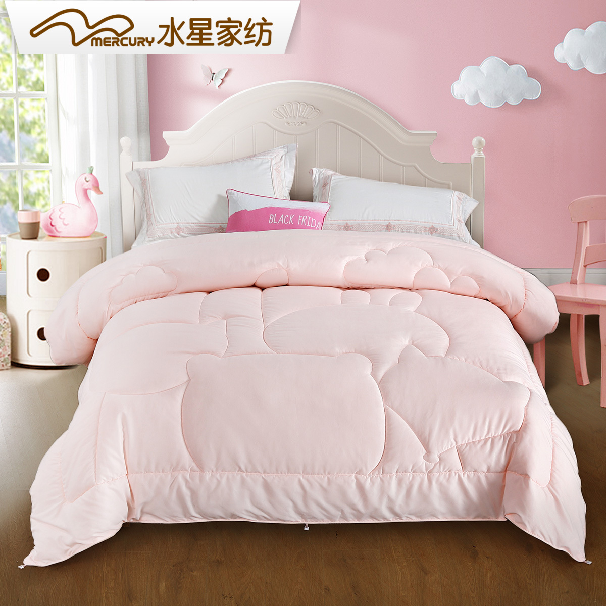 Mercury home textile childrens yingrou antibacterial seven hole spring and autumn quilt winter quilt thickened winter quilt seven hole quilt core 20 new products