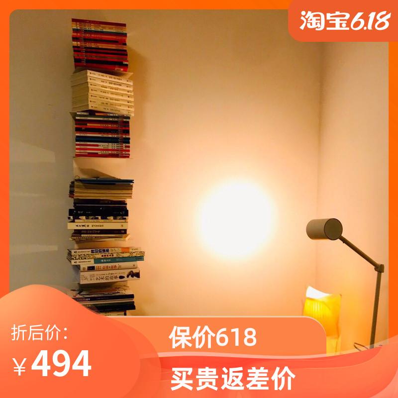 极简简欧墙壁隐形书架 不锈钢整墙书柜 落地多层书架墙上承重力强