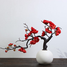 Artificial plum blossom branch, dried plum blossom, artificial flower, decoration in living room, flower table, plastic flower, silk flower, potted plant