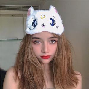 美少女战士猫咪眼罩卡通可爱透气遮光少女心午休睡眠日系个性ins