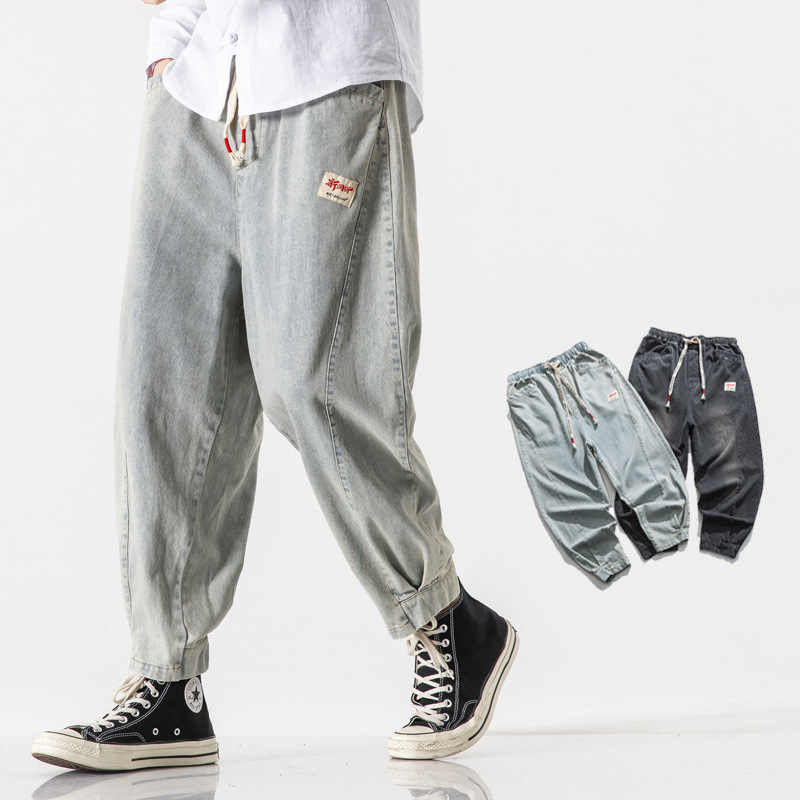 High grade lucky King brand jeans 2020 mens casual loose fattening plus plus size Japanese trousers chaoniu