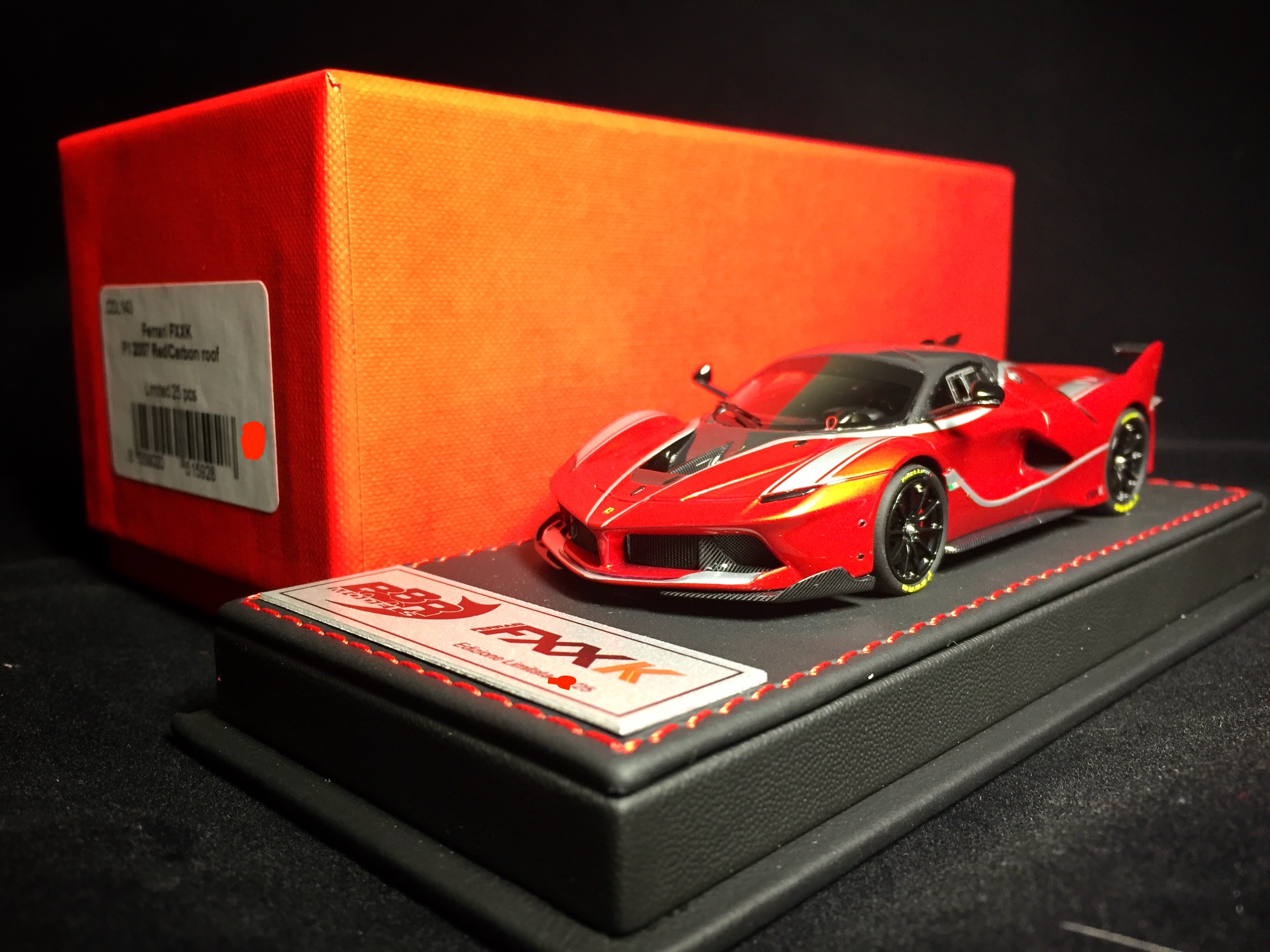 BBR 1:43 法拉利 拉法 FXXK 07F1红 Deluxe 豪华版【售完】