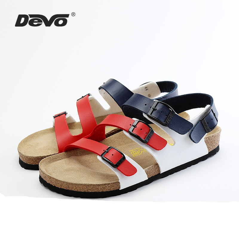 Devos soft wood shoes, multi breasted Roman tide beach, summer mens casual and durable non slip sandals 27213