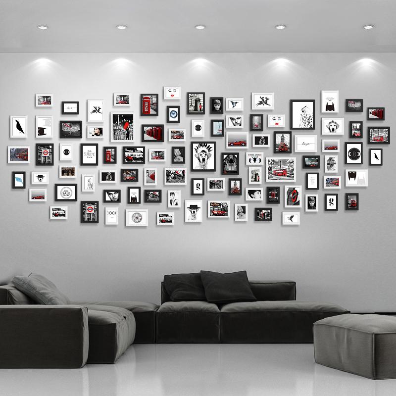 写真壁の装飾は無跡の打ち付け壁から創意的な組み合わせで壁に掛けます。企業文化会社の額縁に壁を掛けます。