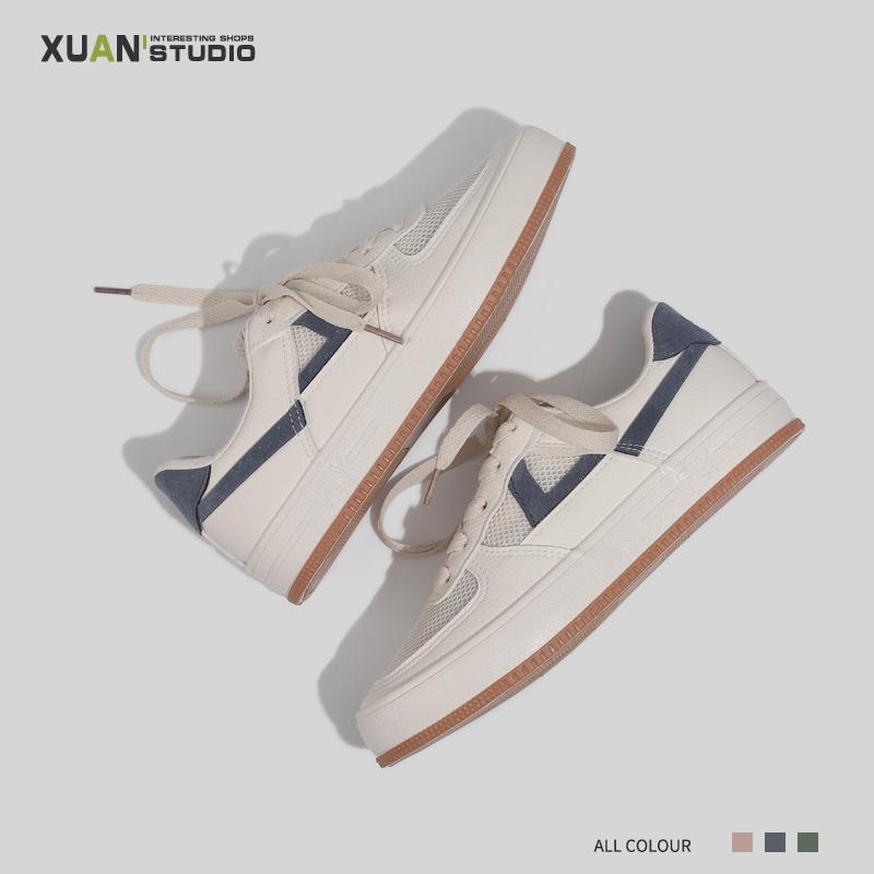 萱哥家 小众设计透气帆布鞋小白鞋夏季女鞋子2020年流行鞋子女夏