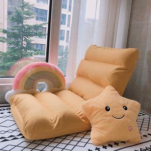 懒人沙发榻榻米折叠靠背单人卧室床