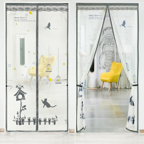 新款门帘防蚊夏季磁性加密软纱门防苍蝇厨房卧室通风防尘纱窗自吸