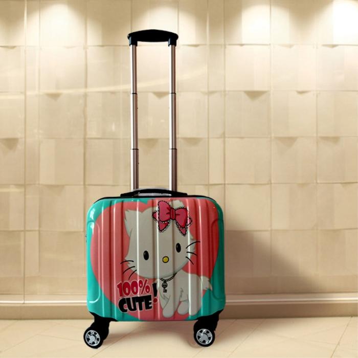 韩国卡通儿童拉杆箱万向轮18寸女16寸小号登机箱男迷你行李箱皮箱