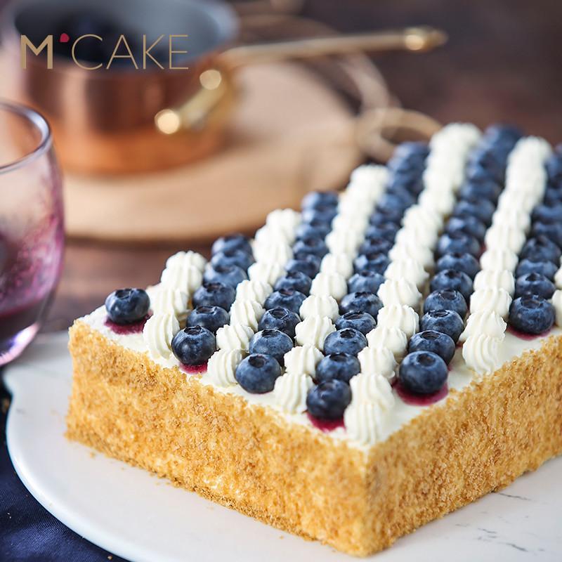 mcake官网蓝莓拿破仑蛋糕千层酥水果创意生日蛋糕 同城配送上海图片