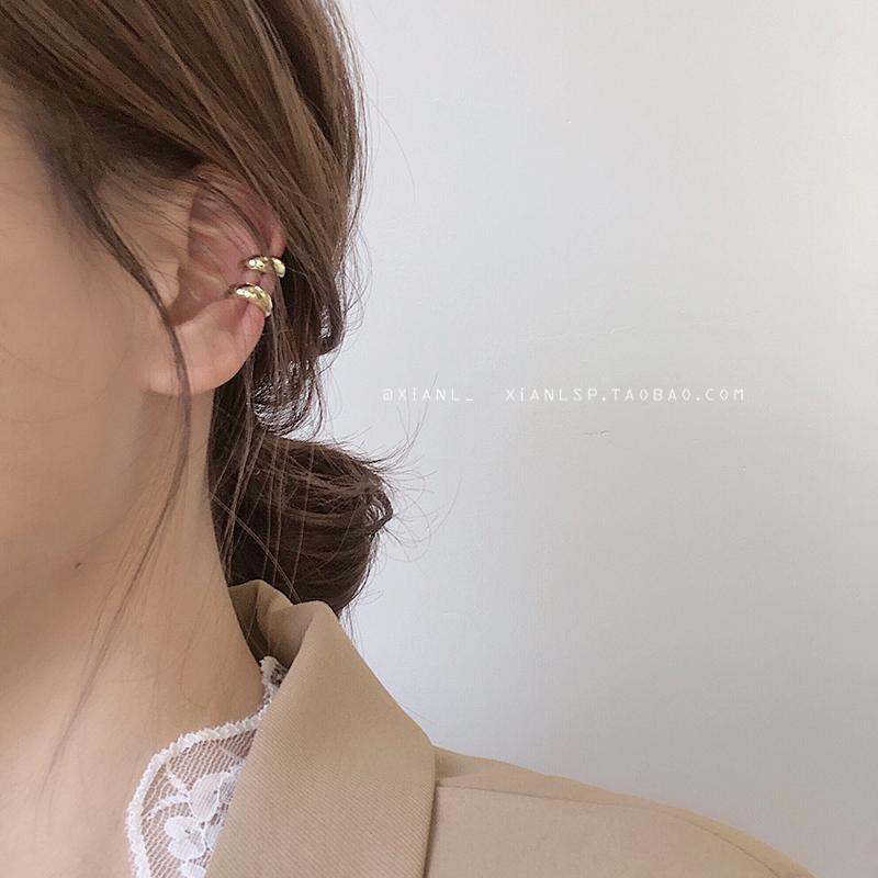 高级感耳夹法式小众优雅无耳洞耳环冷淡风超仙简约小巧耳骨夹女钉图片