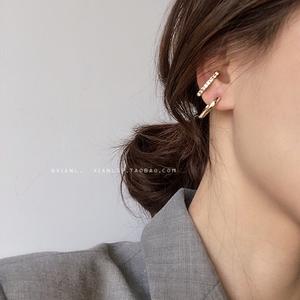 耳环2019新款潮925纯银针韩国气质耳钉女个性网红冷淡风耳挂耳饰
