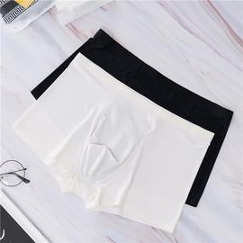 冰丝内裤男超薄真丝骚男士男内裤透明无痕白色丝绸夏夏季薄款透气