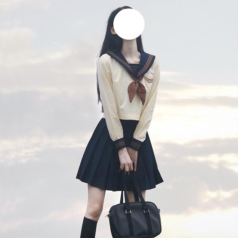 jk制服套装全套春款夏季水手服裙子茶羽中正统版一套女日系学院风