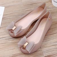 查看新款果冻鞋女夏季鱼嘴凉鞋平底塑料胶鞋雨天防滑沙滩鞋防水雨鞋价格