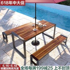 防腐木户外庭院别墅休闲花园桌椅