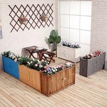 室外庭院装饰隔断落地花坛池花架花槽户外防腐木花箱花盆餐厅阳台