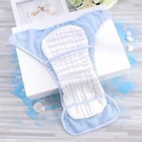 新生儿尿布裤纯棉夏季婴儿介子固定裤防水透气网眼尿布兜纱布可洗