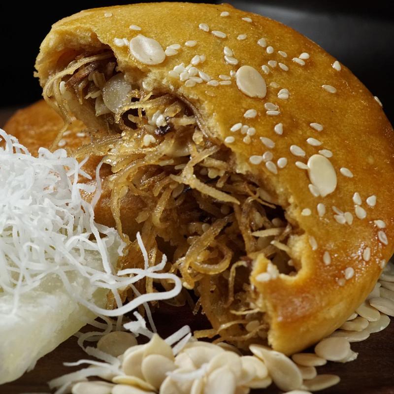 化州拖罗饼125gx4伍仁果仁椰丝广式月饼老式手工月饼广东传统糕点