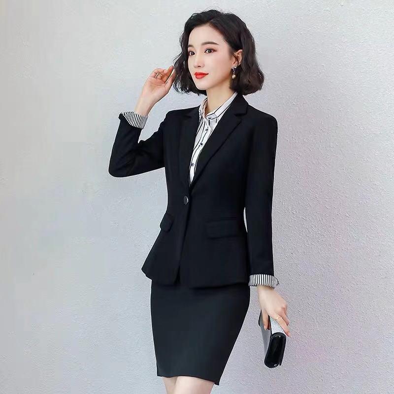 职业套装女南航空姐制服秋季美容师女神范酒店经理前台