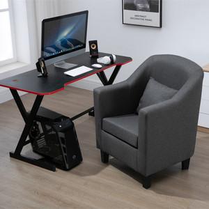 高背欧式单人布艺网咖网吧电脑电竞游戏椅酒店休闲会议家用沙发椅