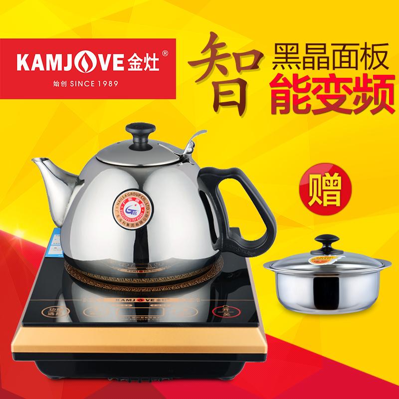 KAMJOVE/ золото кухня подлинный A613 электромагнитный чайный сервиз электромагнитный чай печь пузырь чай сжигать чайник умный мини электромагнитная печь