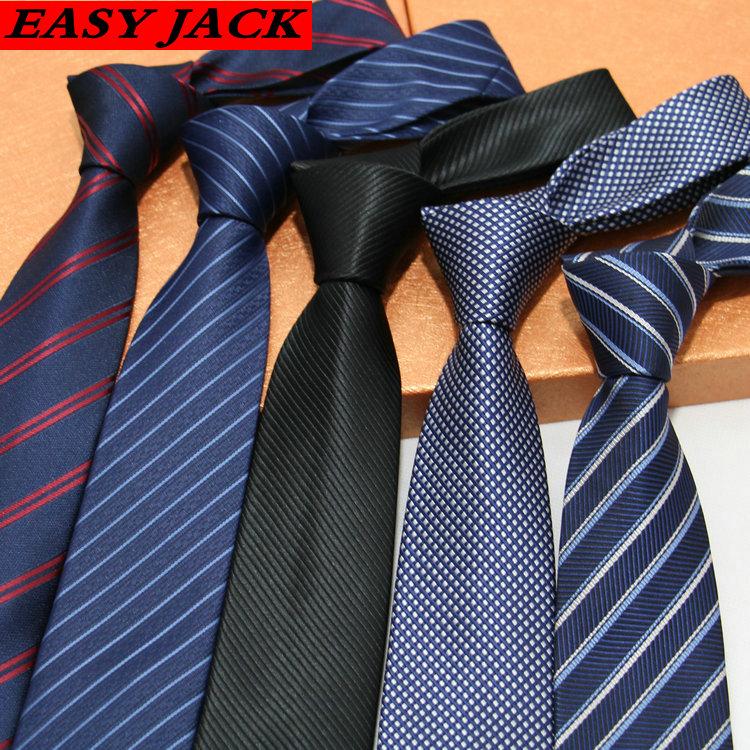 7cm tie mens formal business casual Korean narrow wedding stripe check professional work package