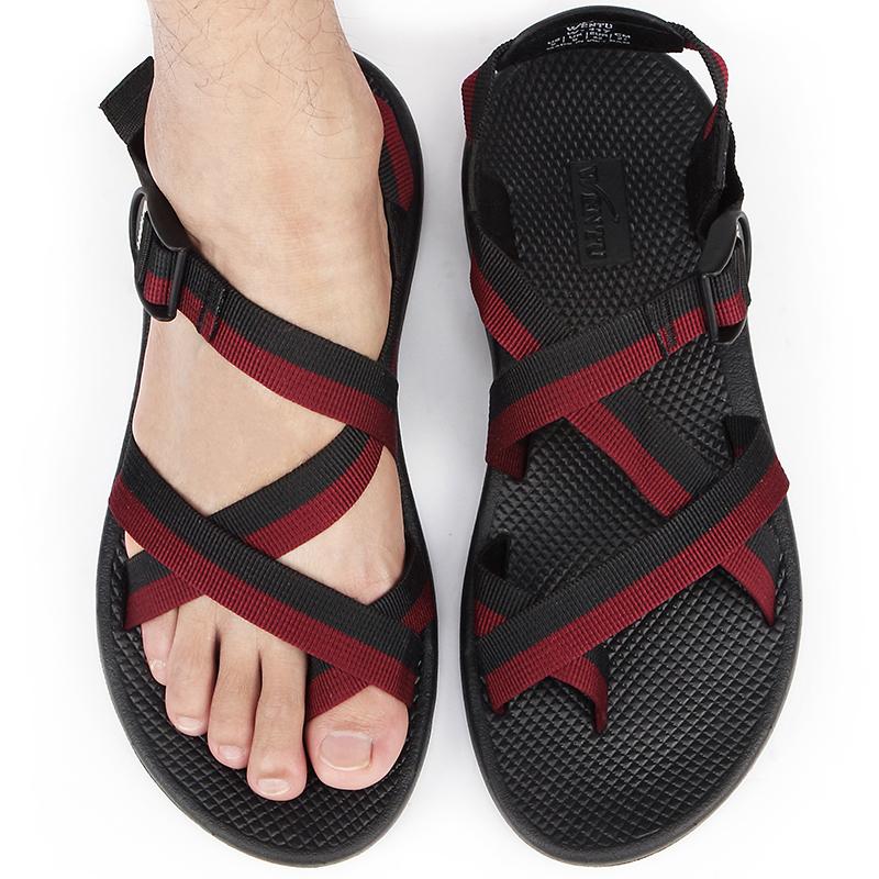 夏季新款正品越南鞋男防滑沙滩鞋罗马凉鞋潮流时尚户外休闲男凉鞋不包邮