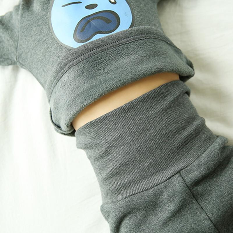 宝宝保暖内衣套装1-3岁加绒加厚冬儿童高腰护肚纯棉男女宝宝套装