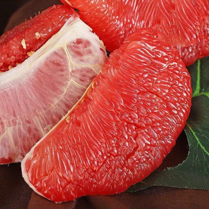 福建平和�g溪正宗红心蜜柚子带箱10斤水果新鲜包邮红肉3--4个整箱